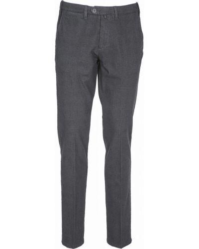 Хлопковые повседневные серые брюки Navigare