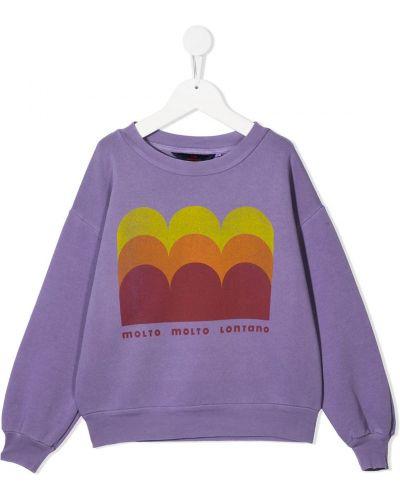 Fioletowa bluza z długimi rękawami bawełniana The Animals Observatory