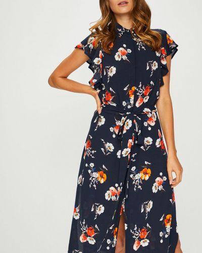 Платье с поясом на пуговицах макси Answear