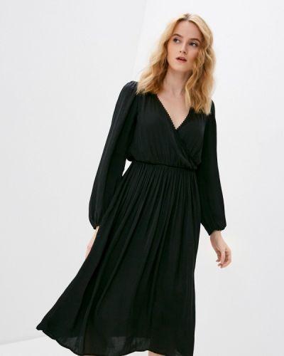 Прямое черное платье А-силуэта Springfield