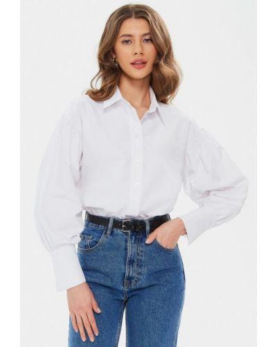 С рукавами белая рубашка Moru
