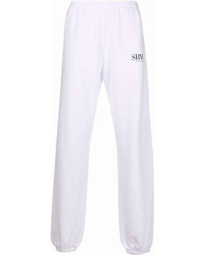 Białe spodnie bawełniane Sporty And Rich