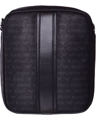 Кожаная сумка на молнии с отделениями Armani Jeans