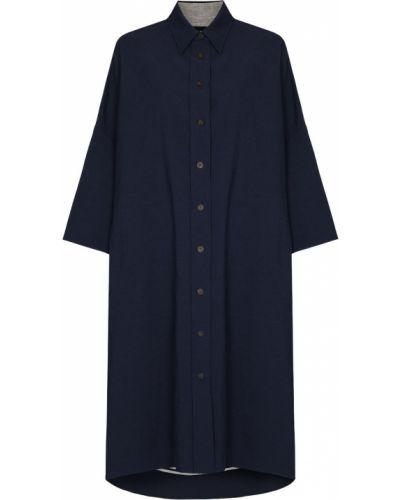Льняное платье - синее Joseph