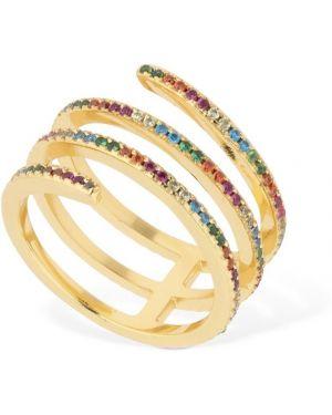 Złoty pierścionek z cyrkoniami Camila Carril