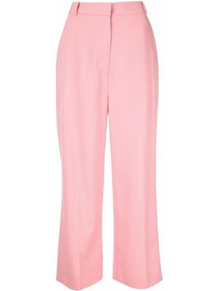 Розовые укороченные брюки с поясом Markus Lupfer