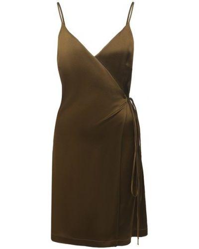 Шелковое платье - зеленое Fisico