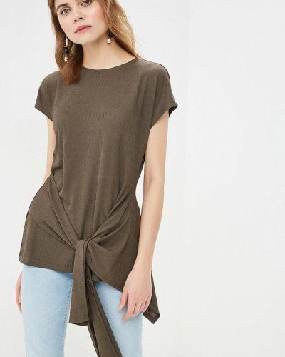 Блузка с коротким рукавом зеленый весенний Sela