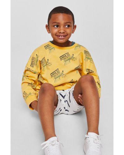 Желтая кофта Mango Kids