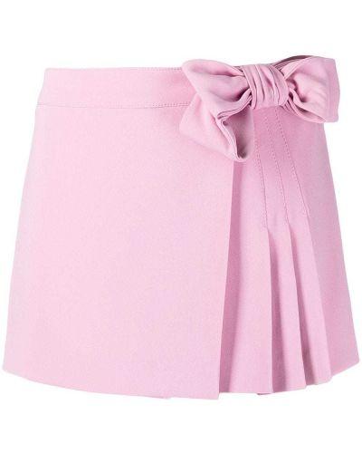 Розовая плиссированная юбка-шорты с бантом Red Valentino