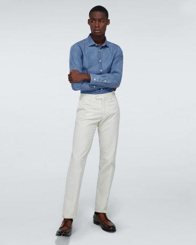 Ватная хлопковая синяя джинсовая рубашка Ralph Lauren Purple Label