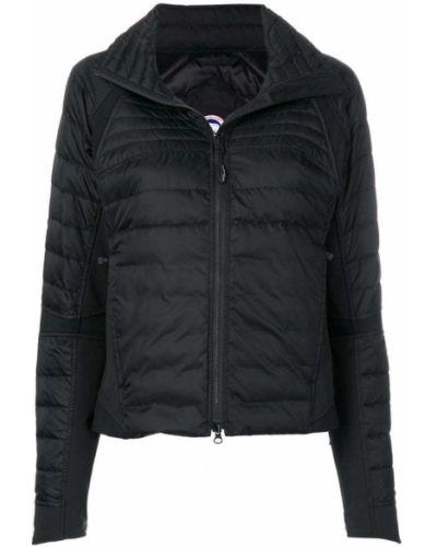 Дутая куртка черная на молнии Canada Goose