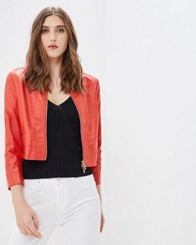 Кожаная куртка весенняя красная Phard