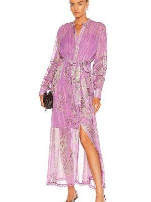 Платье рубашка - фиолетовое Hemant And Nandita