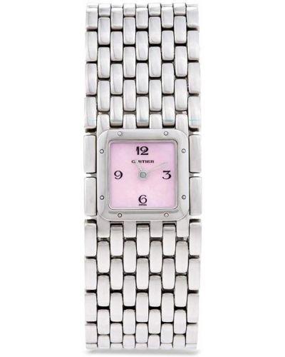 Пуховые серебряные кварцевые часы квадратные Cartier