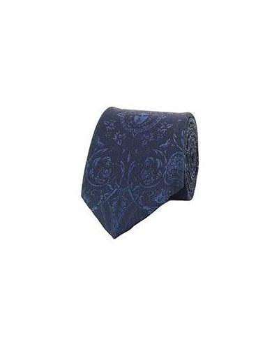 Синий галстук Versace