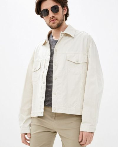 Бежевая джинсовая куртка Antony Morato
