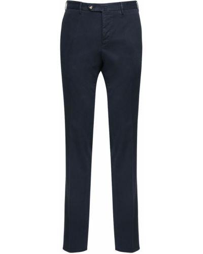 Niebieskie spodnie bawełniane Pantaloni Torino