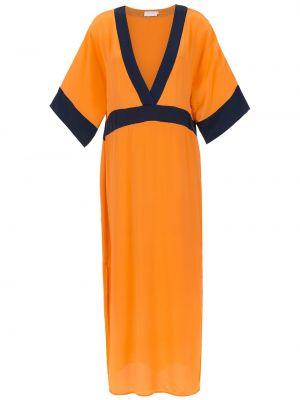 Шелковое платье мини - оранжевое Brigitte