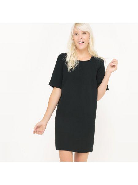 Платье мини прямое с вырезом La Redoute Collections