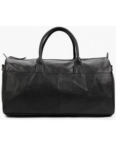 Кожаная черная дорожная сумка Burton Menswear London