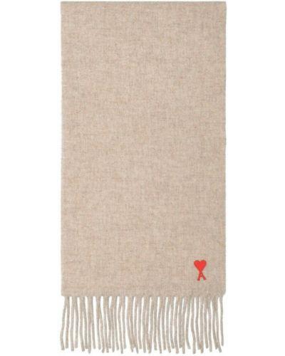Beżowy szalik Ami Paris