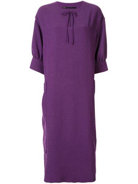 Свободное фиолетовое платье Muller Of Yoshiokubo
