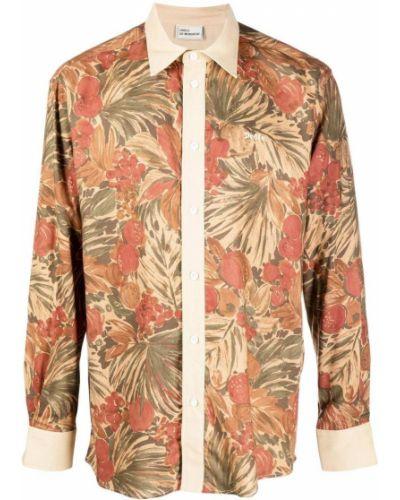 Klasyczna brązowa klasyczna koszula z długimi rękawami Drole De Monsieur