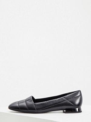 Черные кожаные туфли Hogl