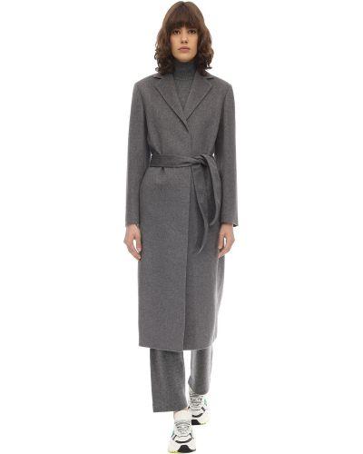 Кашемировое пальто с поясом с лацканами Agnona