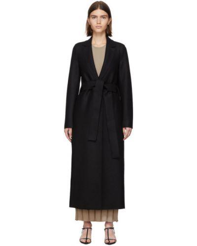 Длинное пальто без воротника на кнопках Harris Wharf London