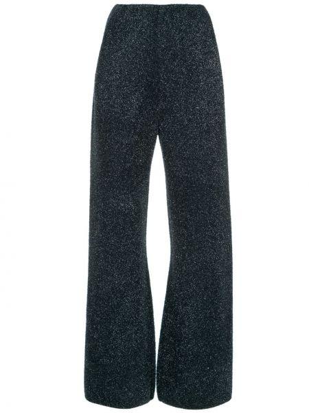 Синие брюки из вискозы Sonia Rykiel