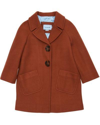 Коричневое стеганое пальто с лацканами Mi.mi.sol.