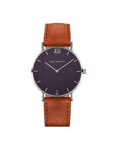 Часы с кожаным ремешком кварцевые водонепроницаемые Paul Hewitt