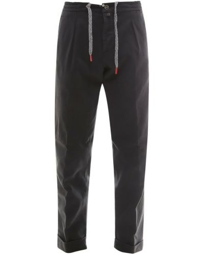 Czarne spodnie Kiton