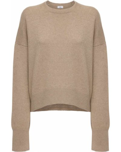 Кашемировый коричневый свитер с воротником с длинными рукавами Ag
