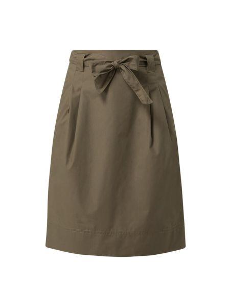 Zielona spódnica rozkloszowana z paskiem Christian Berg Women