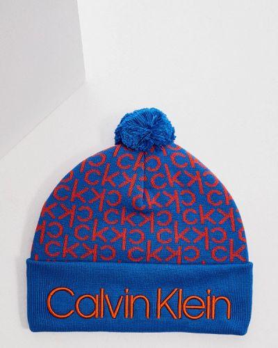 Шапка - синяя Calvin Klein