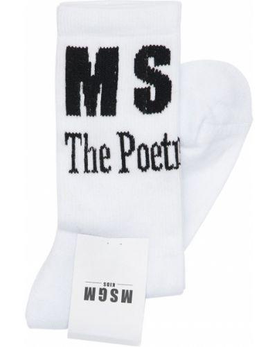 Bawełna biały bawełna skarpetki rozciągać Msgm
