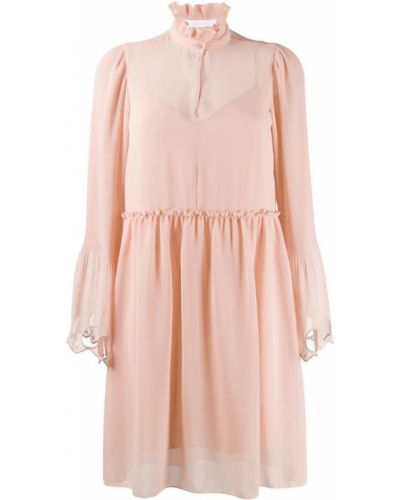 Платье мини розовое мягкое See By Chloé