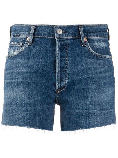 Джинсовые шорты с бахромой с карманами Citizens Of Humanity