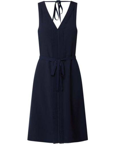 Niebieska sukienka rozkloszowana z szyfonu Esprit Collection
