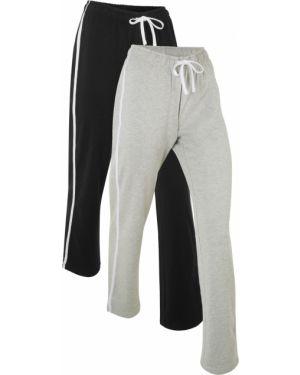 Спортивные брюки с лампасами с поясом Bonprix