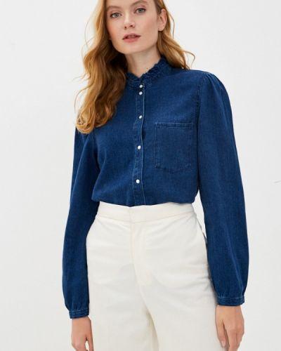 Синяя джинсовая рубашка S.oliver
