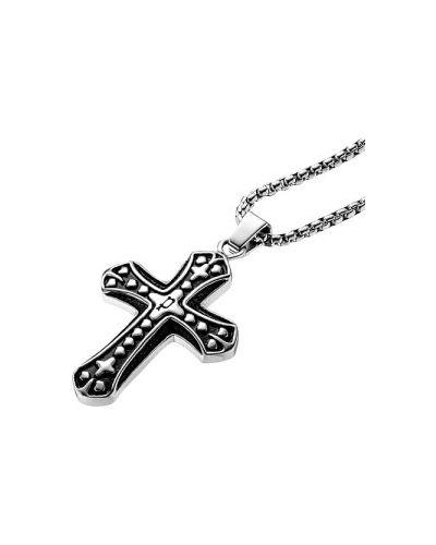 Черный крест с подвесками Police
