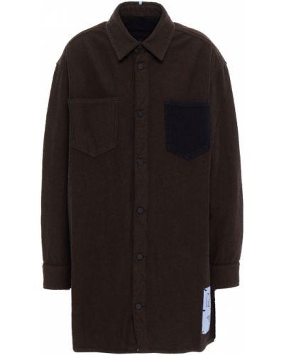 Хлопковая синяя джинсовая рубашка с заплатками Mcq Alexander Mcqueen