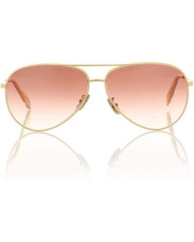Солнцезащитные очки металлические - желтые Celine Eyewear