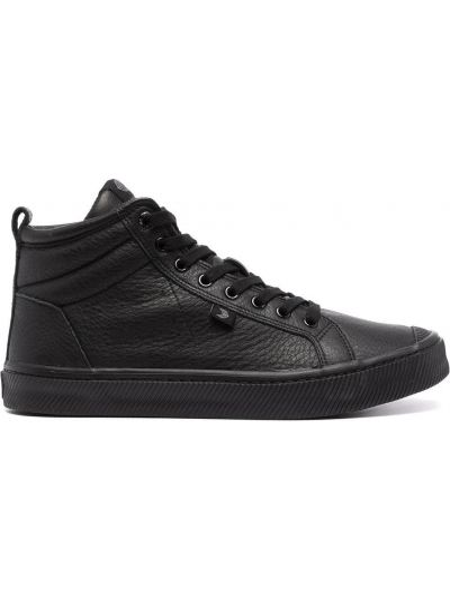 Czarne sneakersy skorzane Cariuma