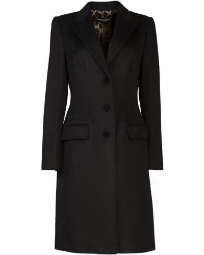Пальто однобортное с отложным воротником Dolce&gabbana