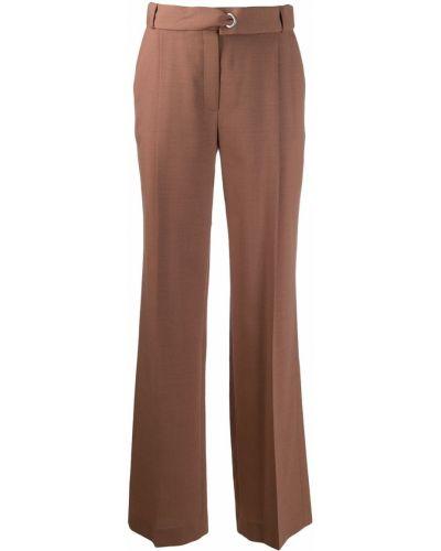Коричневые классические брюки с поясом Frenken